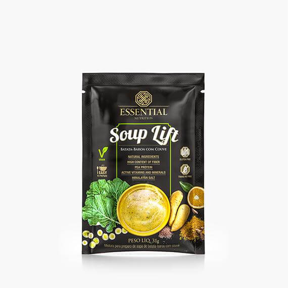 Soup Lift - Batata-baroa com Couve Sachê